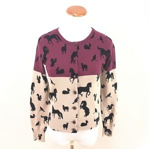 Knitted Dove Anthro Animal Cardigan Sweater